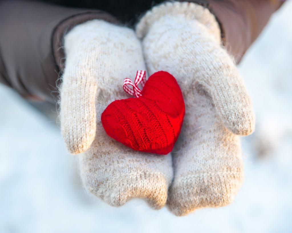 Winter handen-hartje